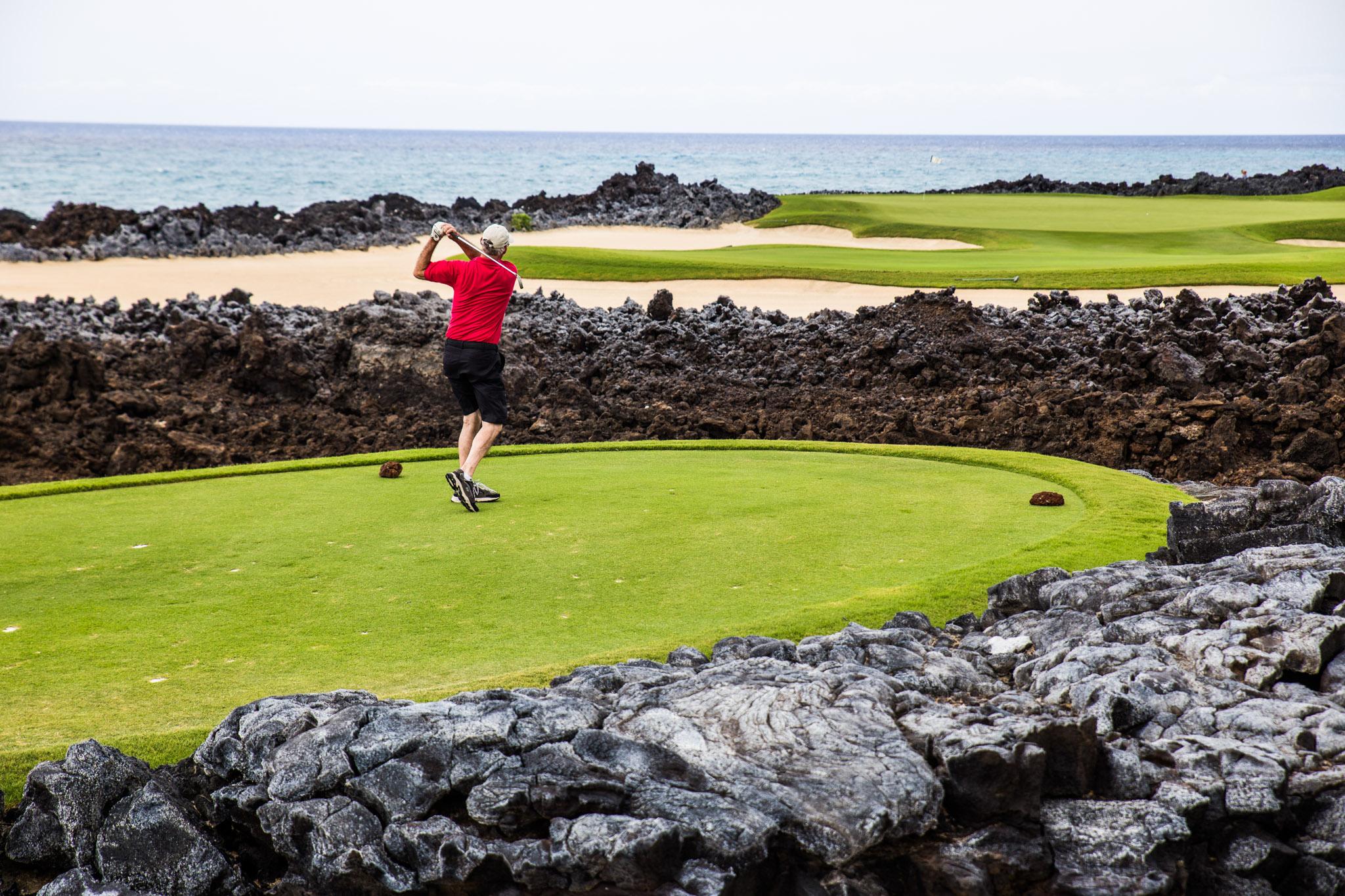 Golf course at Hualalai // A Luxury Stay on the Big Island: Four Seasons Resort Hualalai // #readysetjetset #hawaii #bigisland #luxuryhotels #beachresorts #usa #travel
