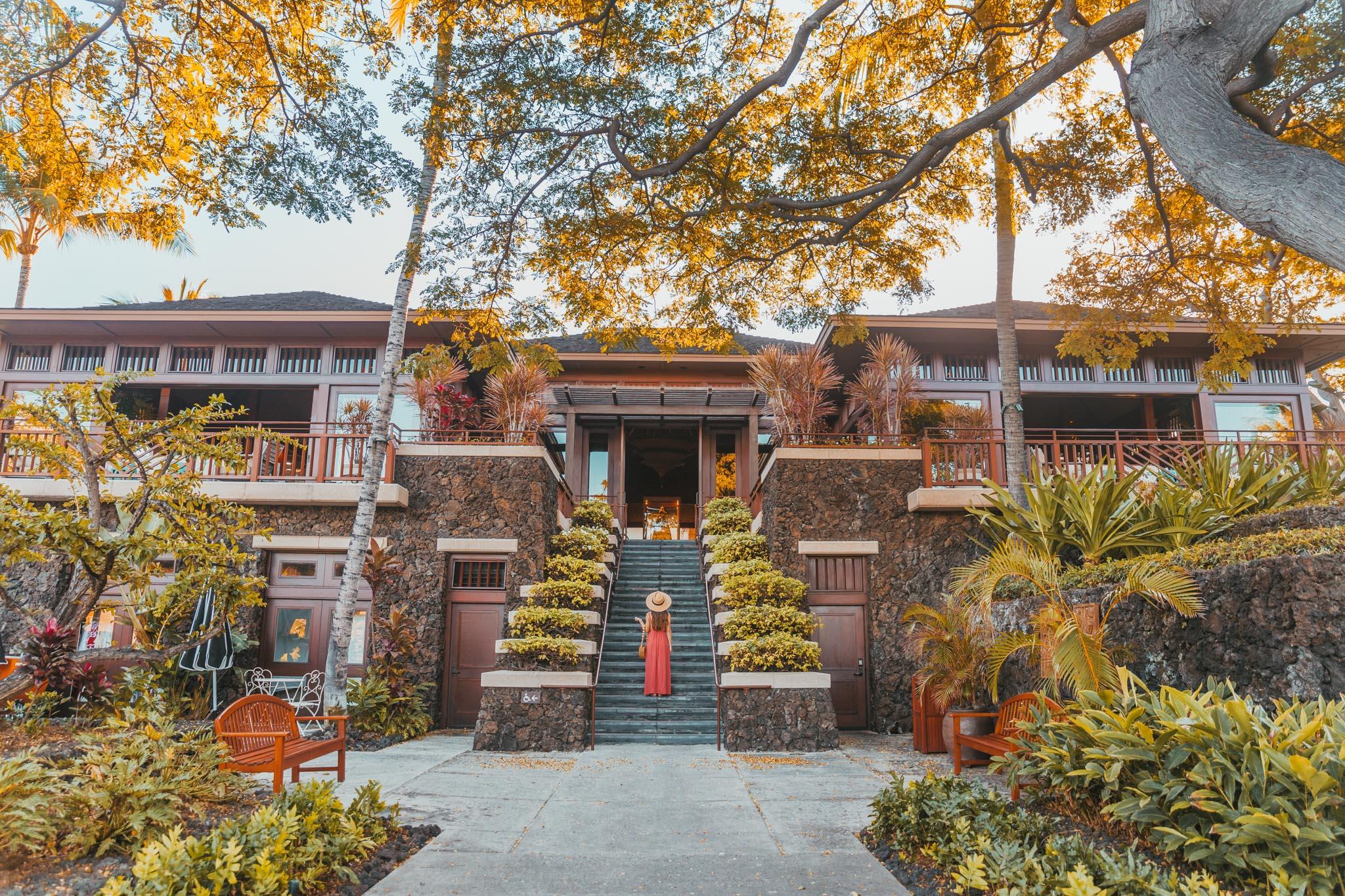 The lobby // A Luxury Stay on the Big Island: Four Seasons Resort Hualalai // #readysetjetset #hawaii #bigisland #luxuryhotels #beachresorts #usa #travel
