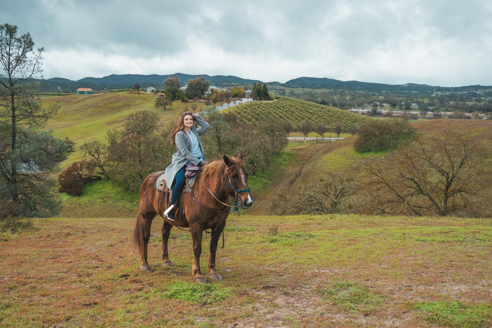 Horseback riding through a winery // 5 Adventurous Things to Do in San Luis Obispo County #readysetjetset #slocal #travel #blogpost #adventuretravel #california #westcoast