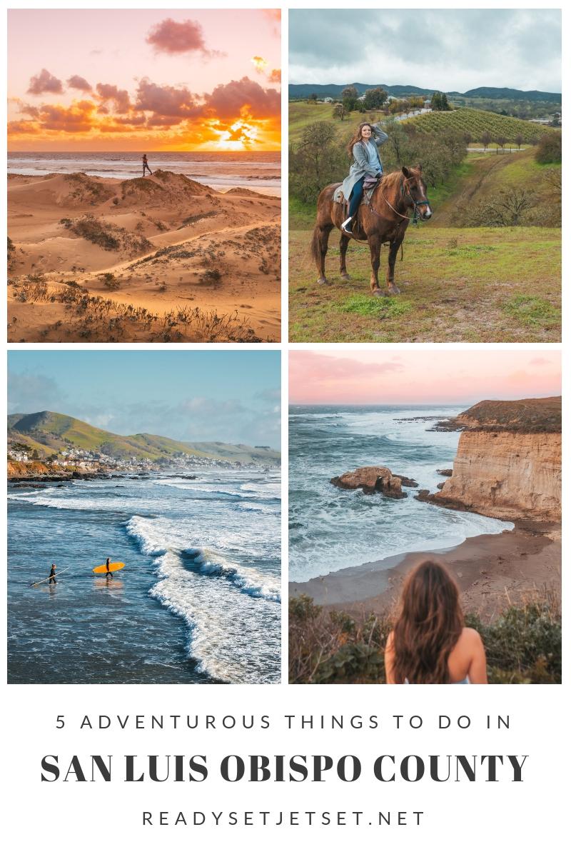 Blog Post: 5 Adventurous Things to Do in San Luis Obispo County #readysetjetset #slocal #travel #blogpost #adventuretravel #california #westcoast