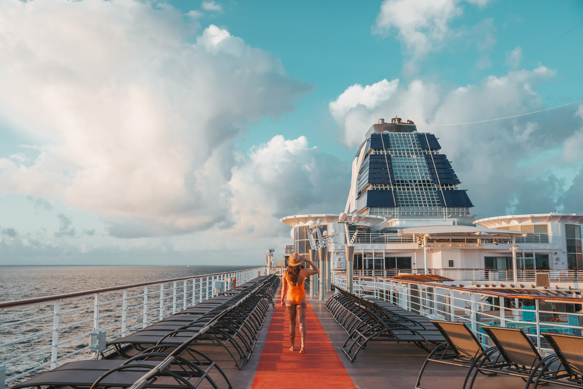 Deck 11 sunbathing area above the pool // Cruise Review: Everything You Need To Know About The Celebrity Summit