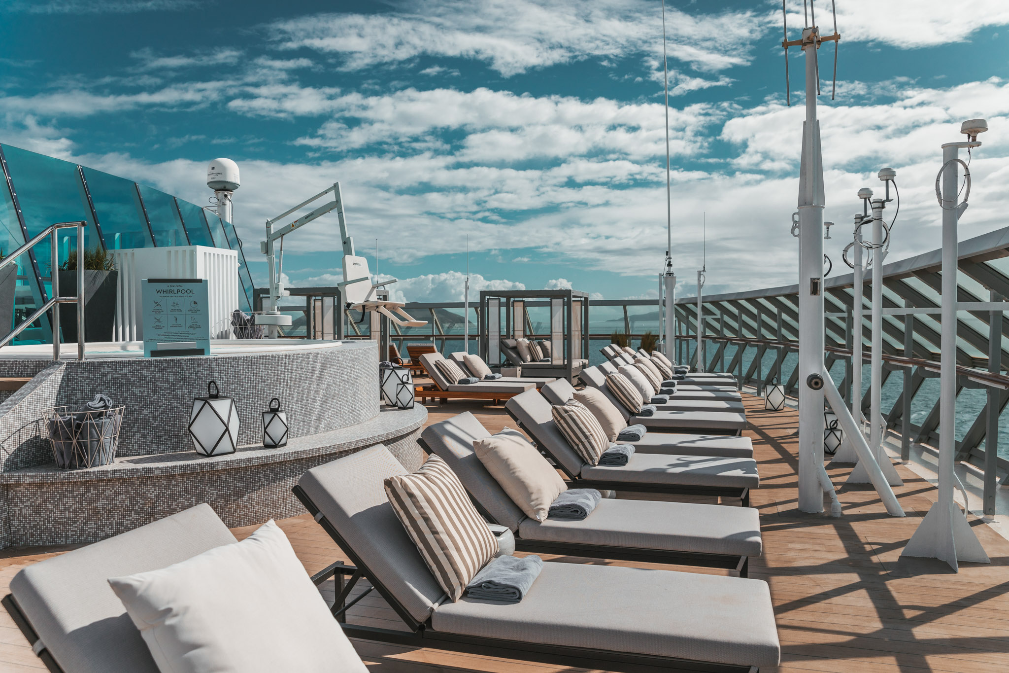The Retreat Sundeck for suite-level passengers // Cruise Review: Everything You Need To Know About The Celebrity Summit