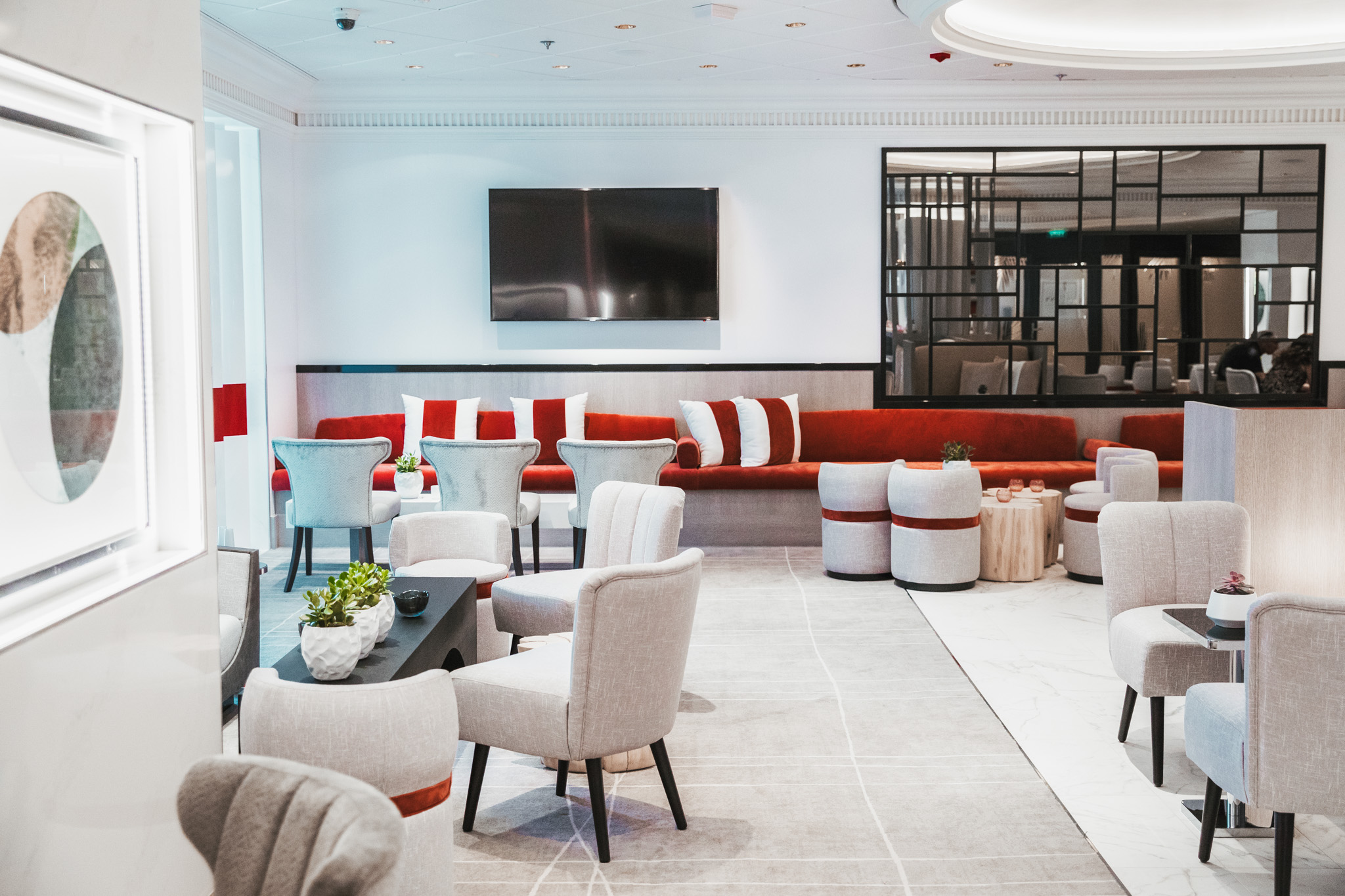 The Retreat Lounge for suite-level passengers // Cruise Review: Everything You Need To Know About The Celebrity Summit