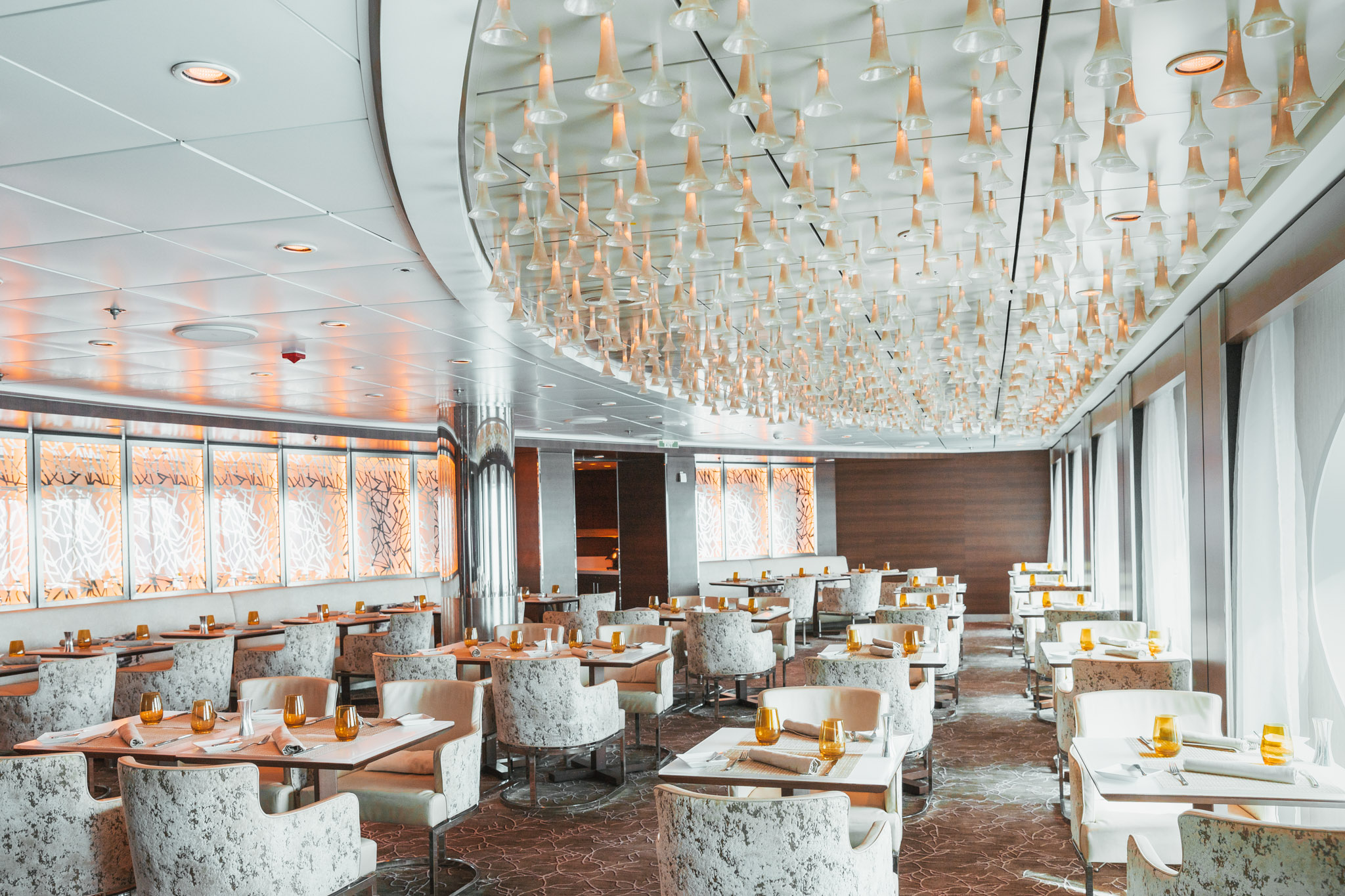 Luminae, a restaurant exclusively for suite-level passengers on the Celebrity Summit