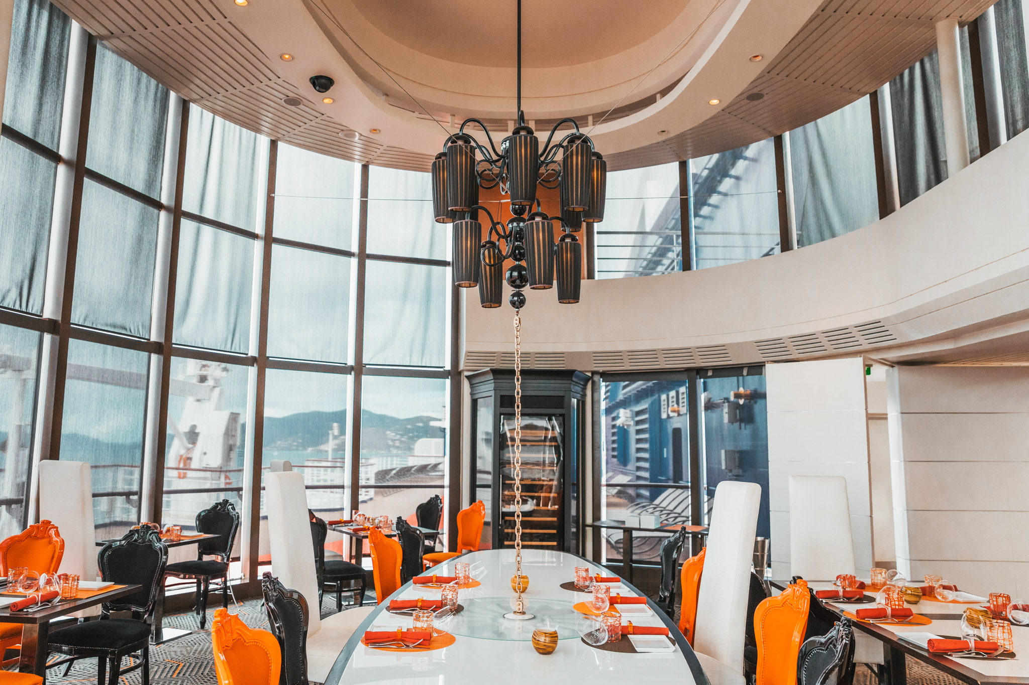 Qsine, one of the specialty restaurants onboard the Celebrity Summit cruise ship