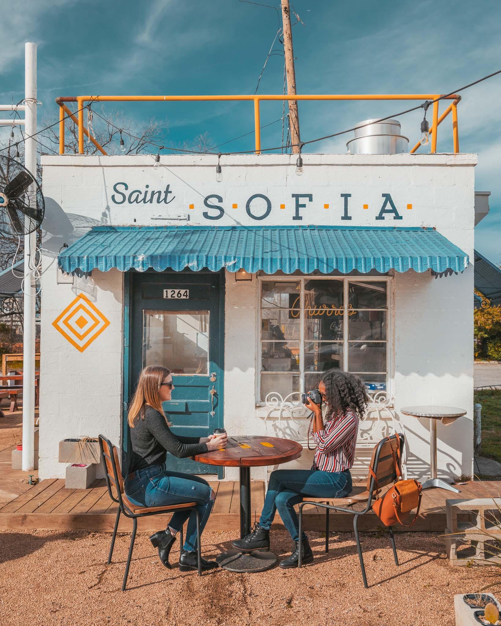 Saint Sofia cute storefront on Magnolia Avenue in Fort Worth, Texas