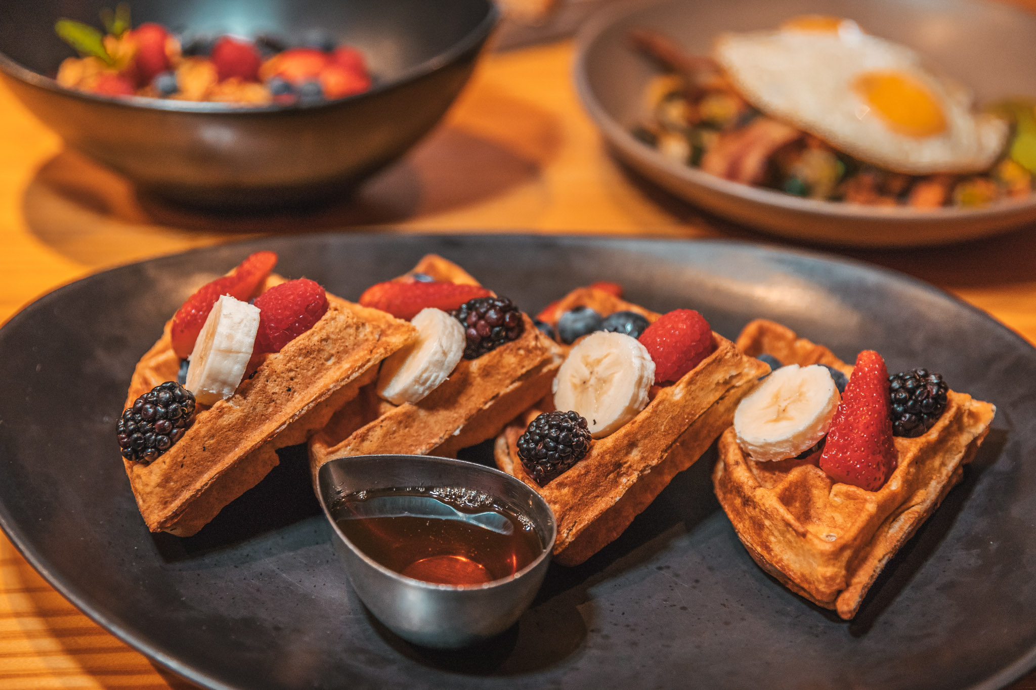 Waffles brunch at Righteous Foods on Magnolia Avenue in Fort Worth