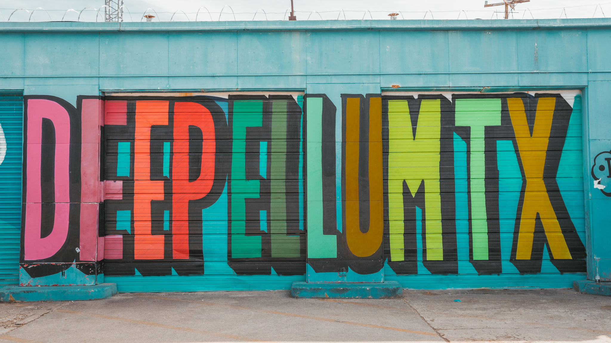 Colorful mural in Deep Ellum in Dallas, Texas