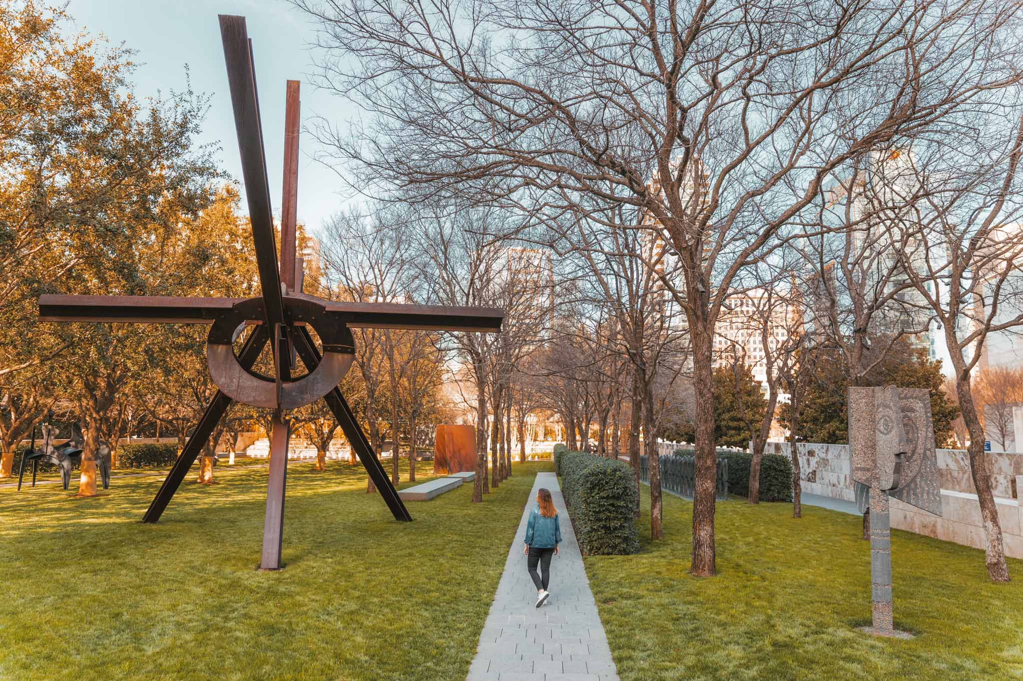 Outdoor sculpture garden at Nasher Sculpture Center, Dallas, Texas