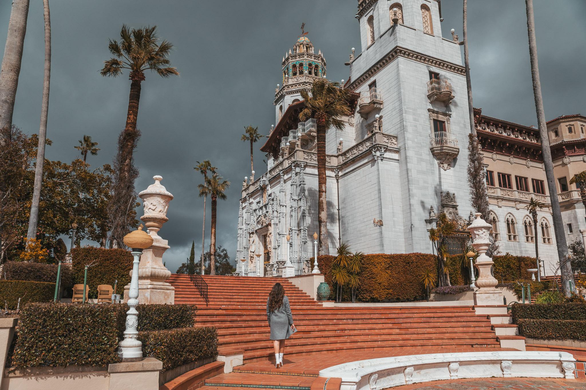 Esplanade of Casa Grande at Hearst Castle ~ The Most Instagrammable Spots in SLO CAL County ~ #readysetjetset #slocal #california #blogpost #travel #sanluisobispo