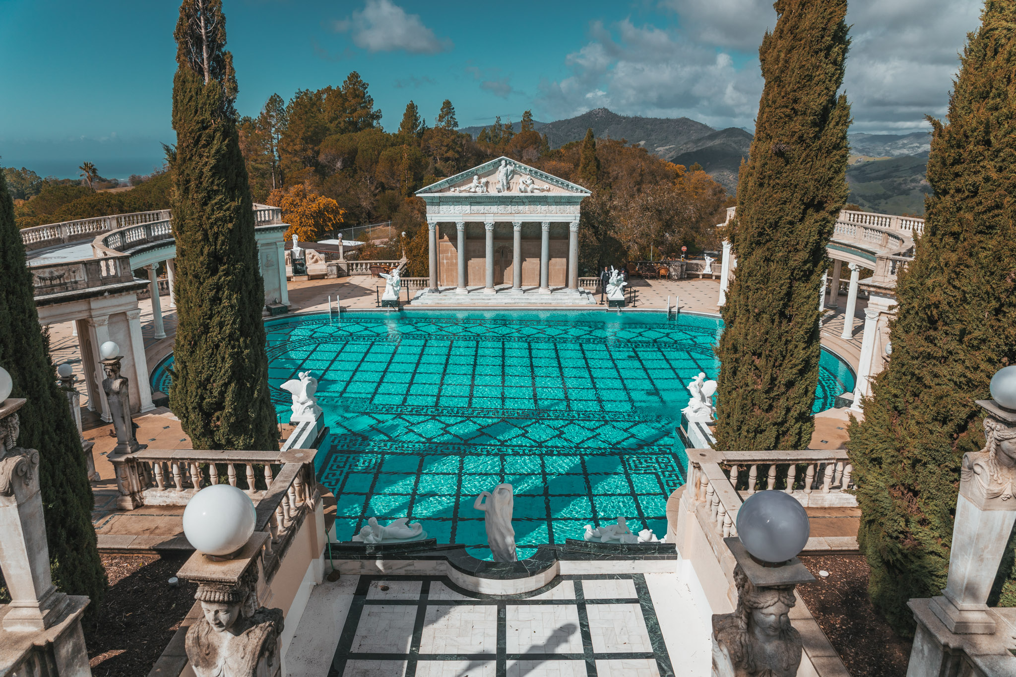 Hearst Castle outdoor pool ~ The Most Instagrammable Spots in SLO CAL County ~ #readysetjetset #slocal #california #blogpost #travel #sanluisobispo