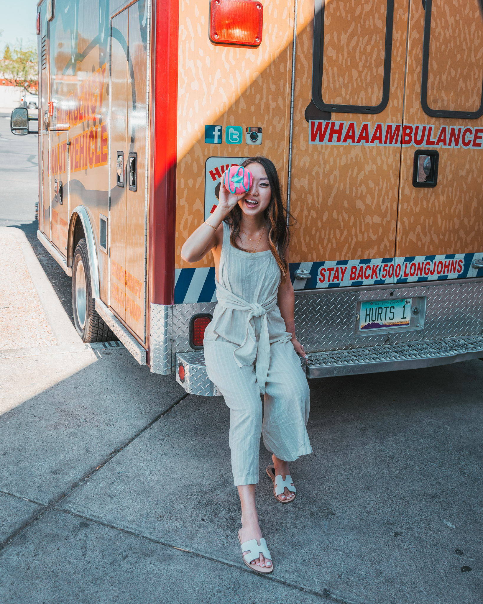 Hurts Donut ambulance delivery truck ~ The Quick Guide to Tempe, Arizona