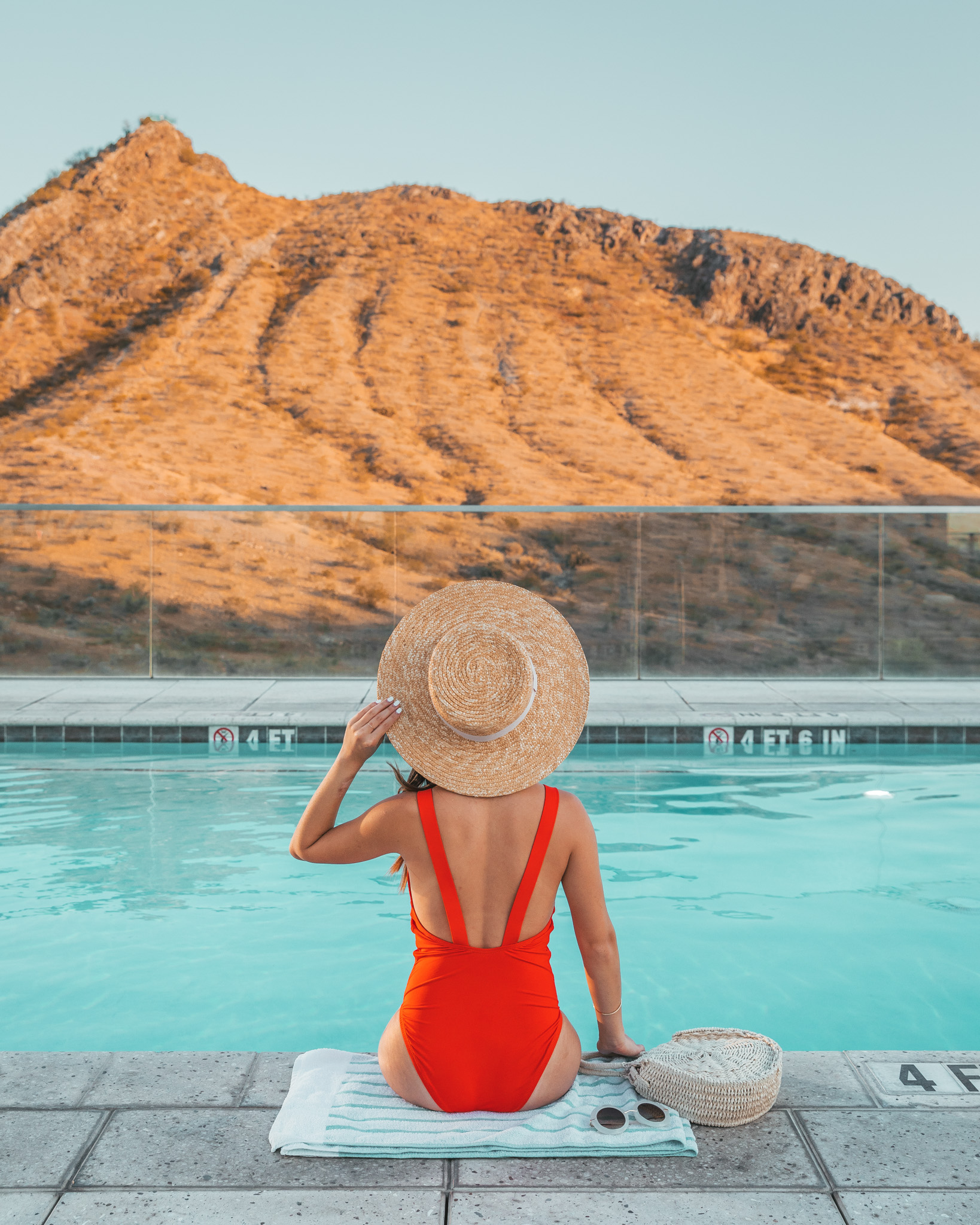 AC Hotel Phoenix Tempe Downtown rooftop pool overlooking A Mountain ~ The Quick Guide to Tempe, Arizona