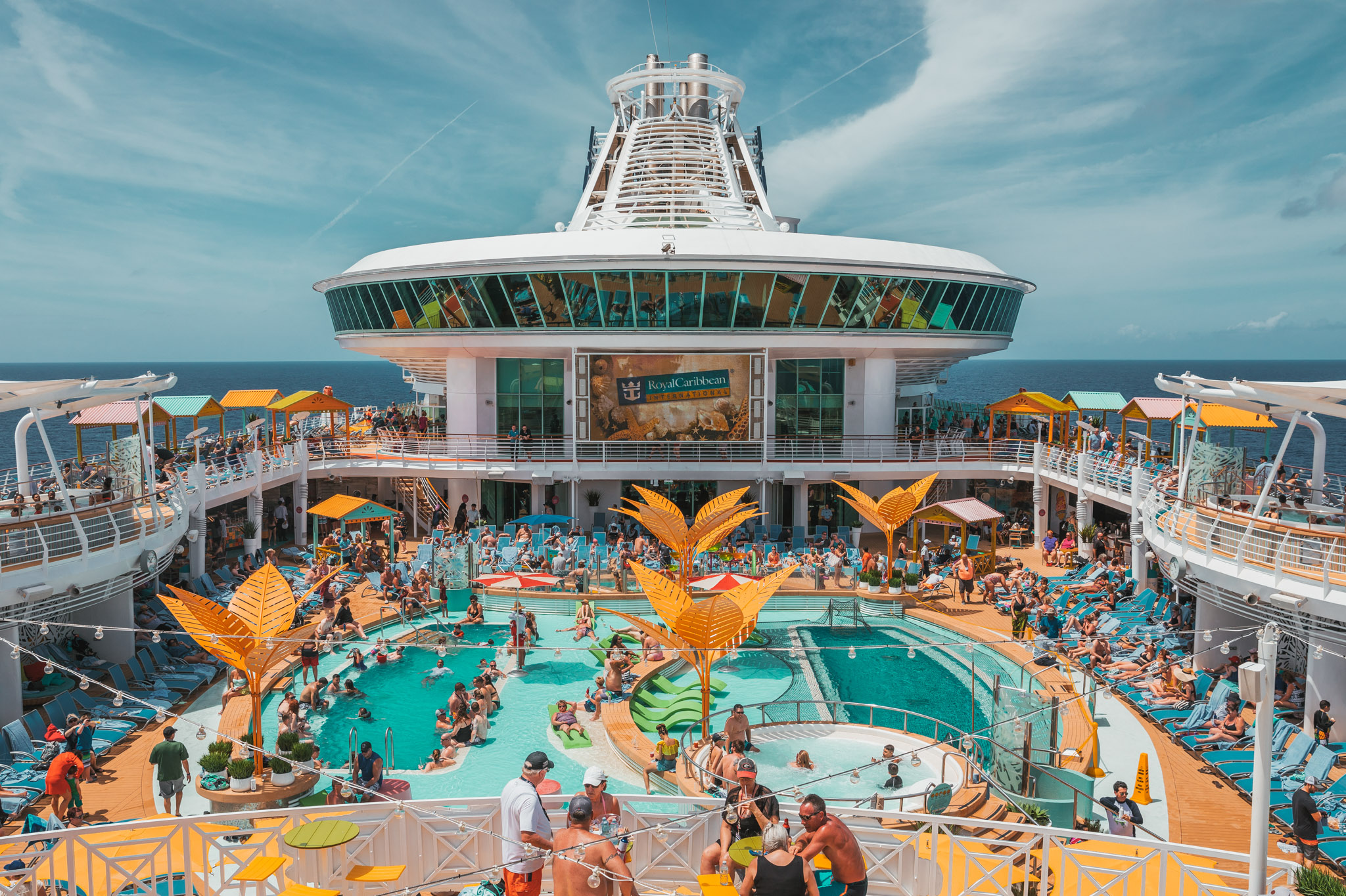 Amplified pool deck onboard ~ Cruise Review: Royal Caribbean Navigator of the Seas