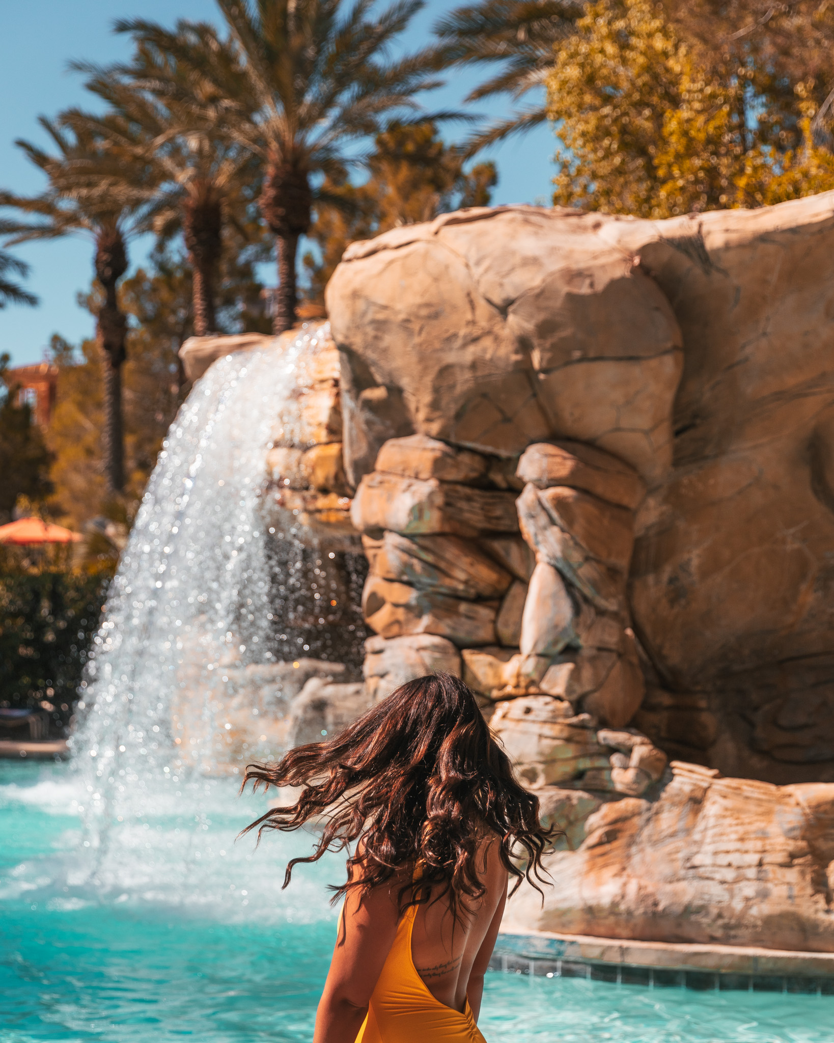 The pool at  JW Marriott Las Vegas // The Quick Guide to Visiting Vegas Beyond the Strip #readysetjetset #lasvegas #nevada #luxuryhotels #blogpost #travel #hotels