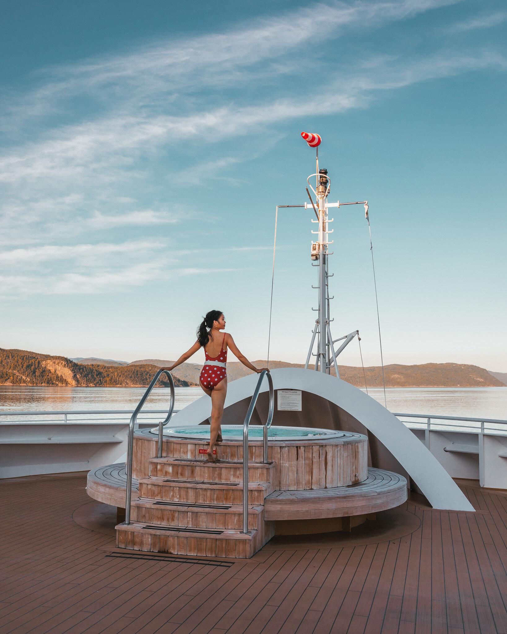 Bow of the Seabourn Quest whirlpool // Cruise Review: 11-Day New England & Canada on the Seabourn Quest // #readysetjetset #canada #cruise #luxury #travel #cruising