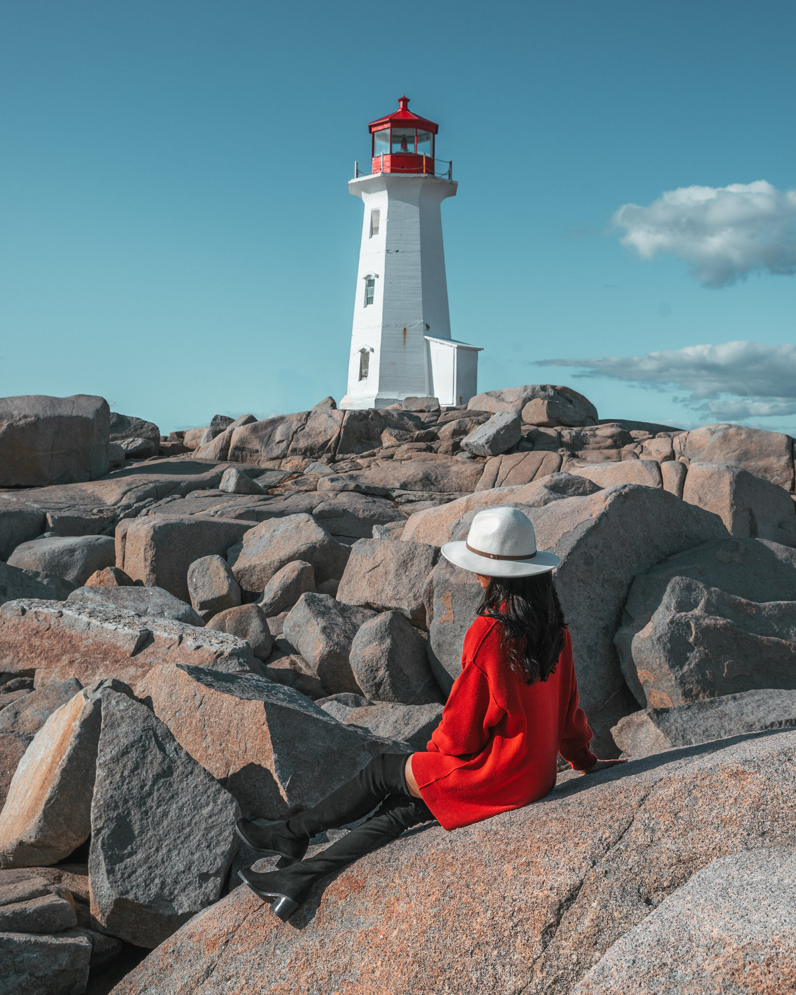 Peggy's Cove Lighthouse in Nova Scotia // Cruise Review: 11-Day New England & Canada on the Seabourn Quest // #readysetjetset #cruise #luxury #travel #cruising #canada #halifax
