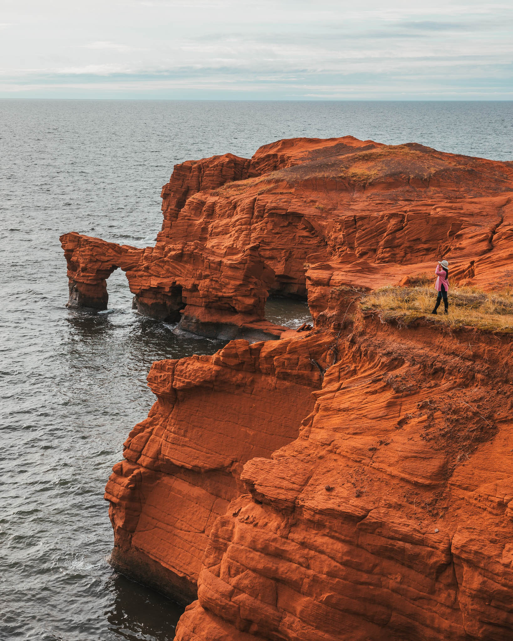 Cap-aux-Meules red cliffs // Cruise Review: 11-Day New England & Canada on the Seabourn Quest // #readysetjetset #cruise #luxury #travel #cruising #canada