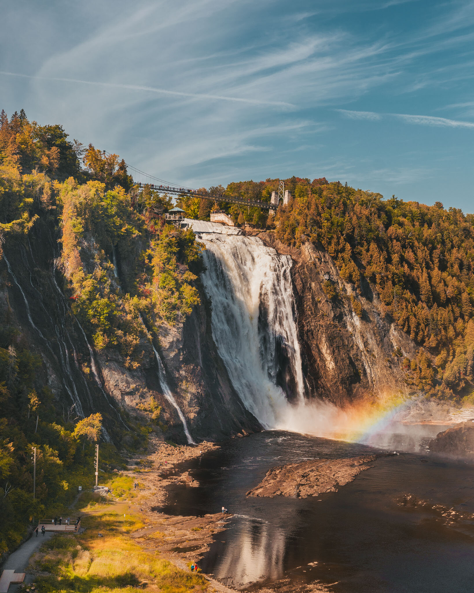 Montmorency Falls in Quebec City // Cruise Review: 11-Day New England & Canada on the Seabourn Quest // #readysetjetset #cruise #luxury #travel #cruising #canada