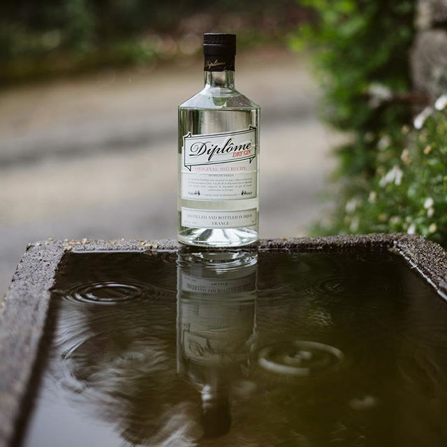 It's raining but we have Diplome Gin.  #diplomegin #madeinfrance🇫🇷 #since1945