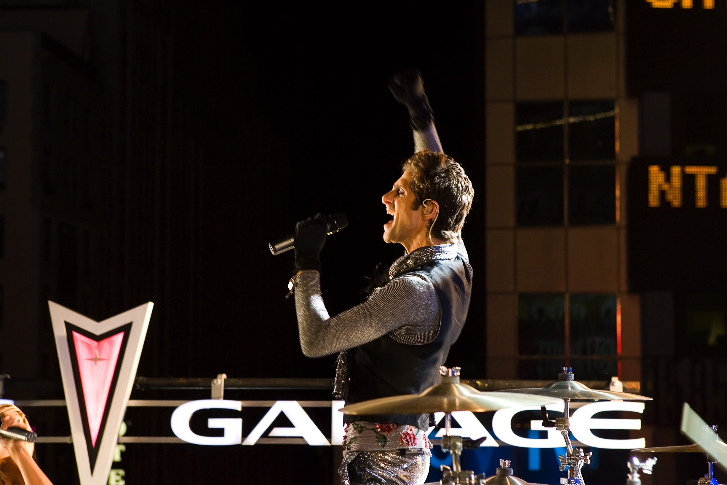 Perry Farrell on the set of  ABC Pontiac Garage Saturday Night Football