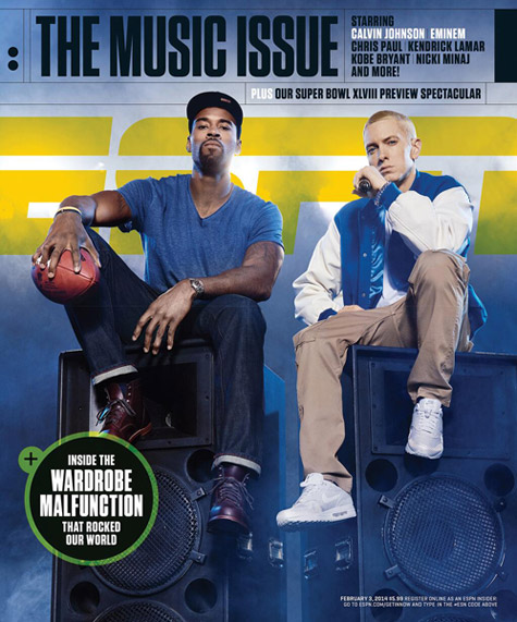 Calvin Johnson and Eminem - ESPN The Magazine The Music Issue