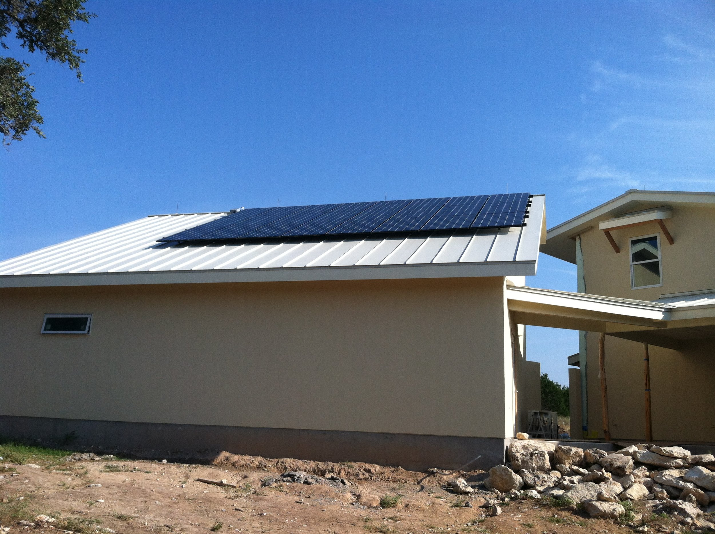 pv system - solar panels installed.JPG