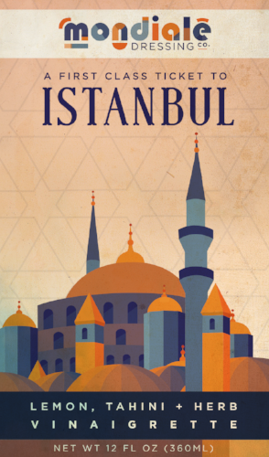 Istanbul Mondiale dressing label