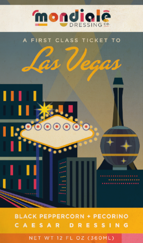 Las Vegas Mondiale Dressing label
