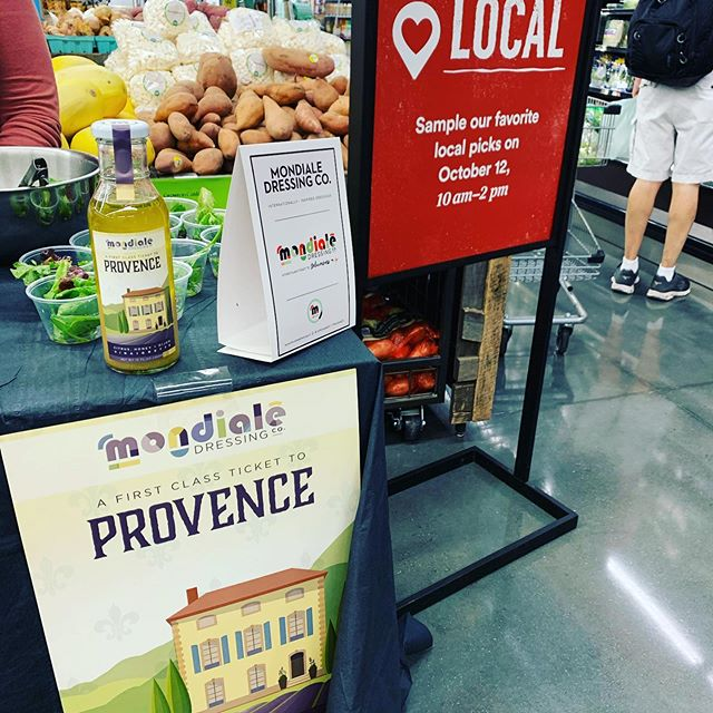 We ❤️ Local! Come by and sample are salad dressing today from 10am - 2pm at Whole Foods South Capitol! #localatwholefoods #firstclassticketto #mondialedc #navyyarddc #messhalldc