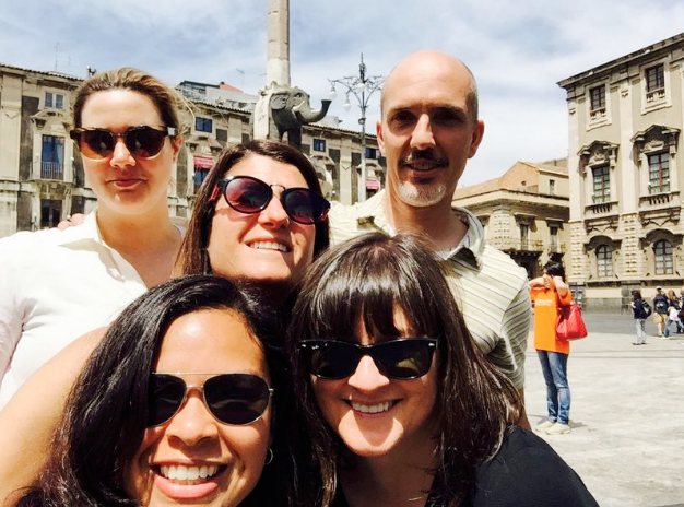 One of my secrets to living a fulfilling life without kids is travelling with childfree friends. Here's my posse in Sicily.