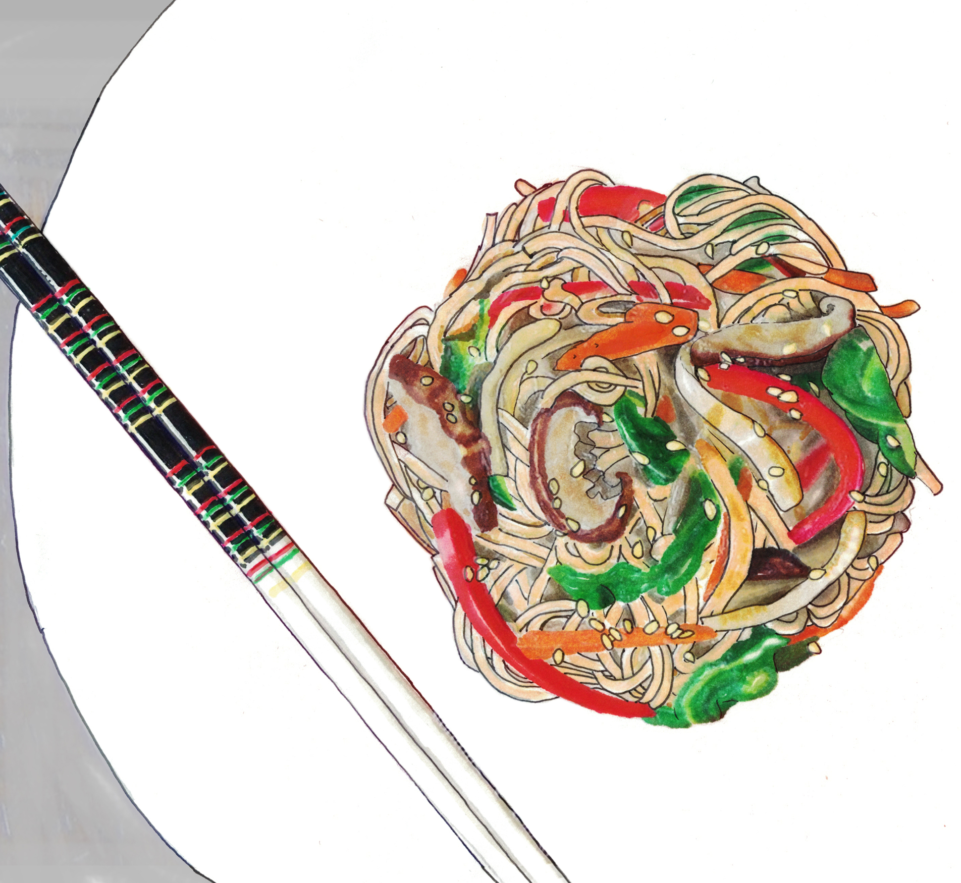 Shin's  japchae  recipe is extra easy to make. Her one-pan method is a foolproof way to get perfectly cooked sweet potato starch noodles.