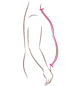 short-row belly shaping