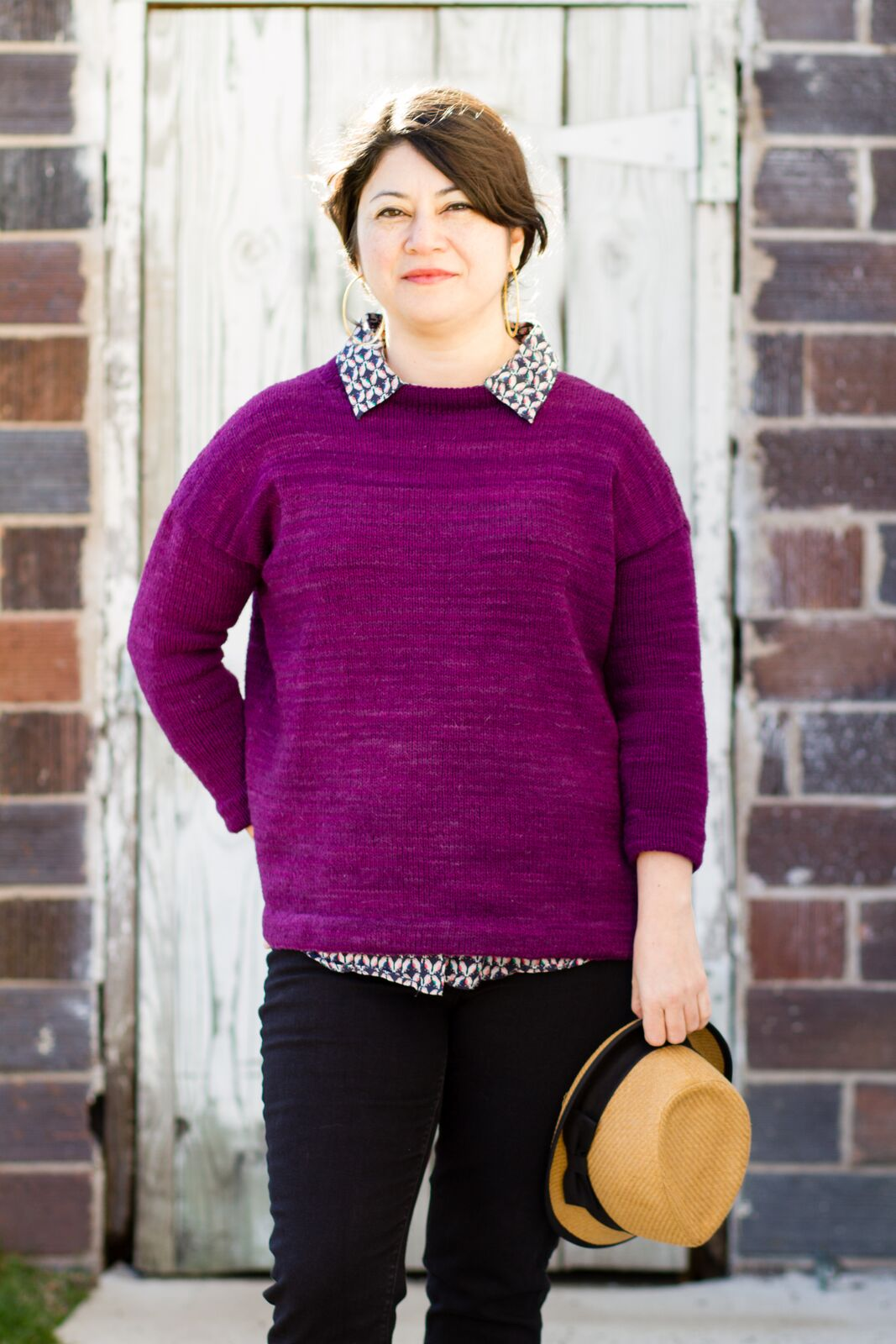 Olga's femme adaptation of the Abram sweater, in Catskill Merino sport.If you're planning to make this oversized femme version of the sweater, I'll include instructions for adapting the pattern at each stage of the knitalong.