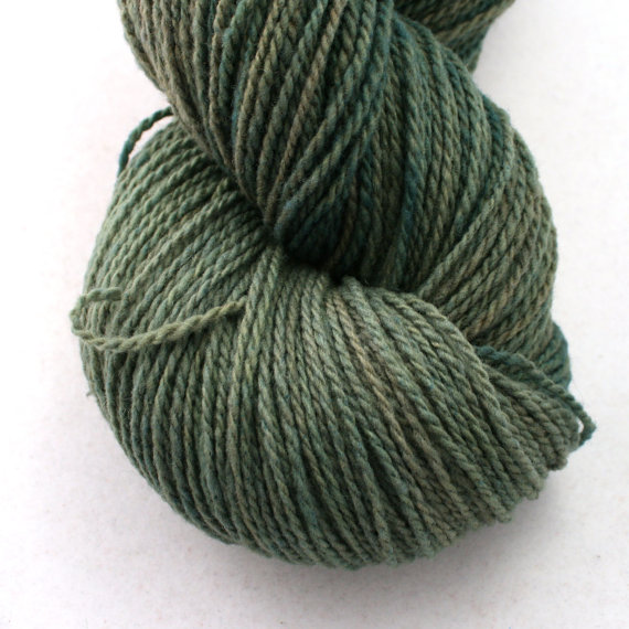 Jill Draper Makes Stuff Mohonk yarn, in colorway Pine Shade. Photo (c) Jill Draper.