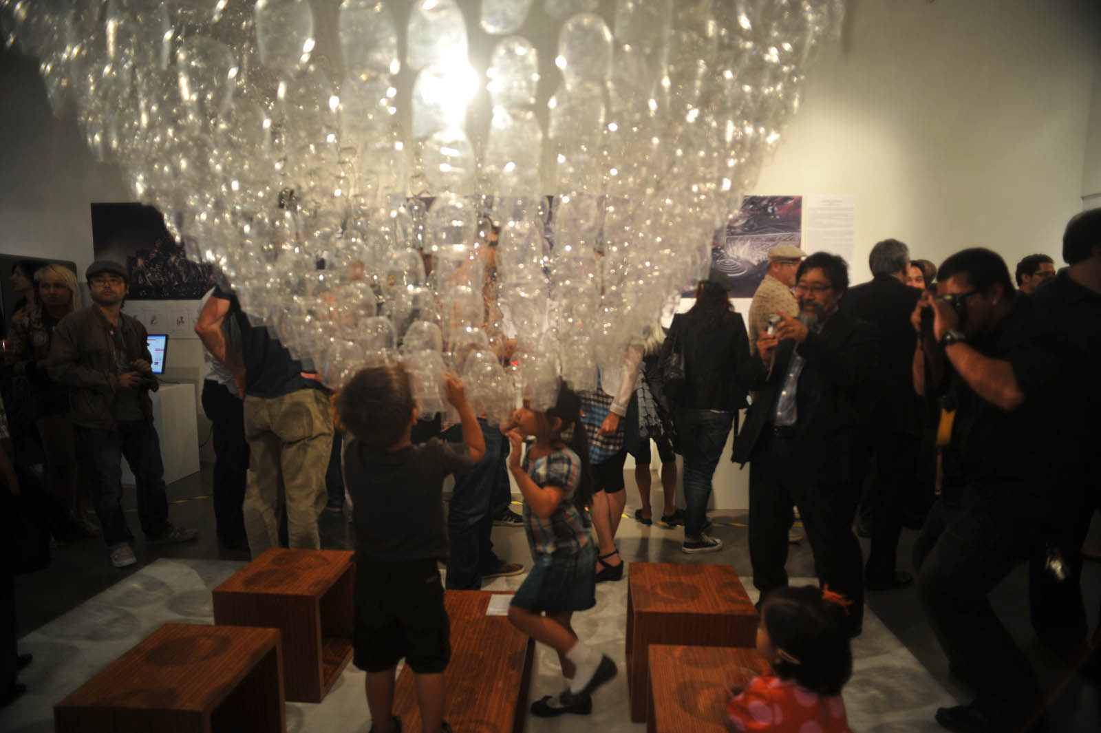 The installation during the opening 