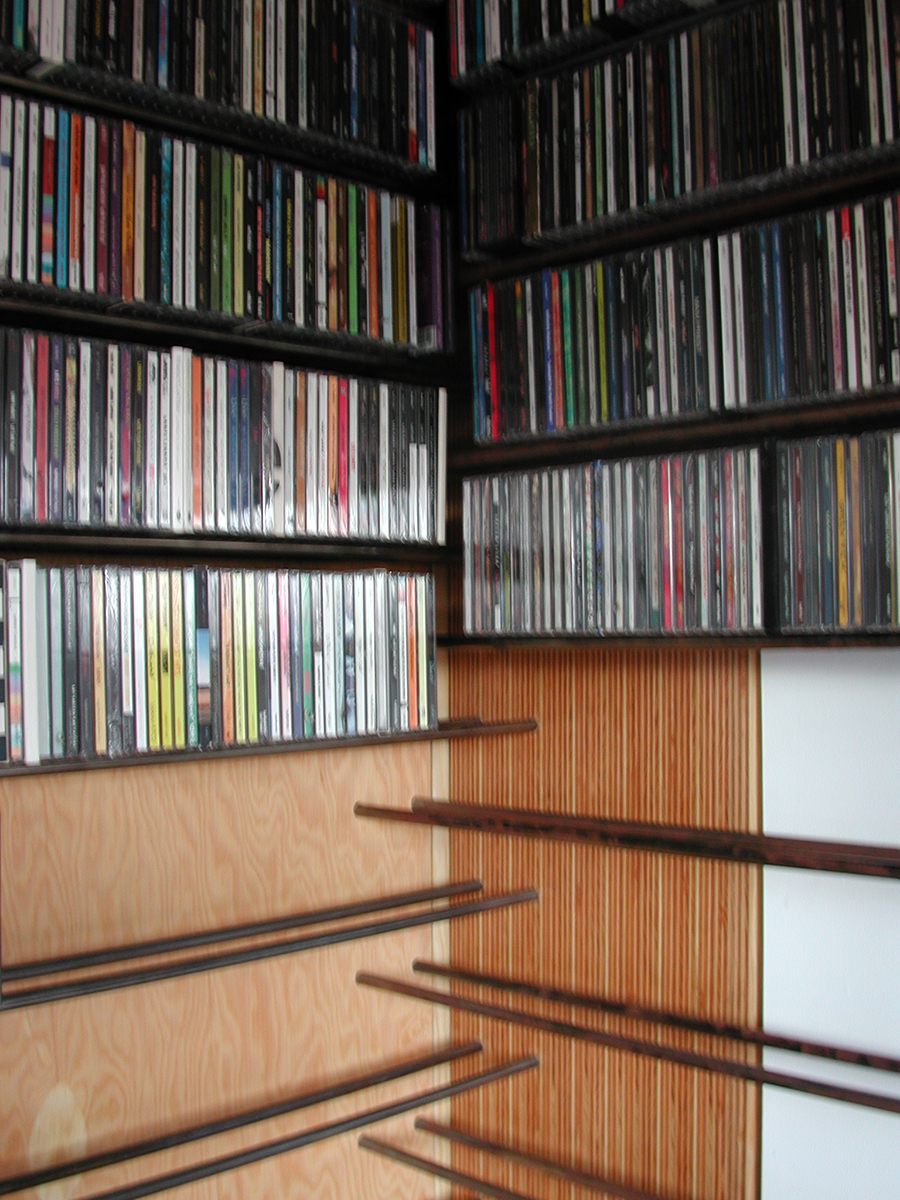 A detail of the cd storage itself