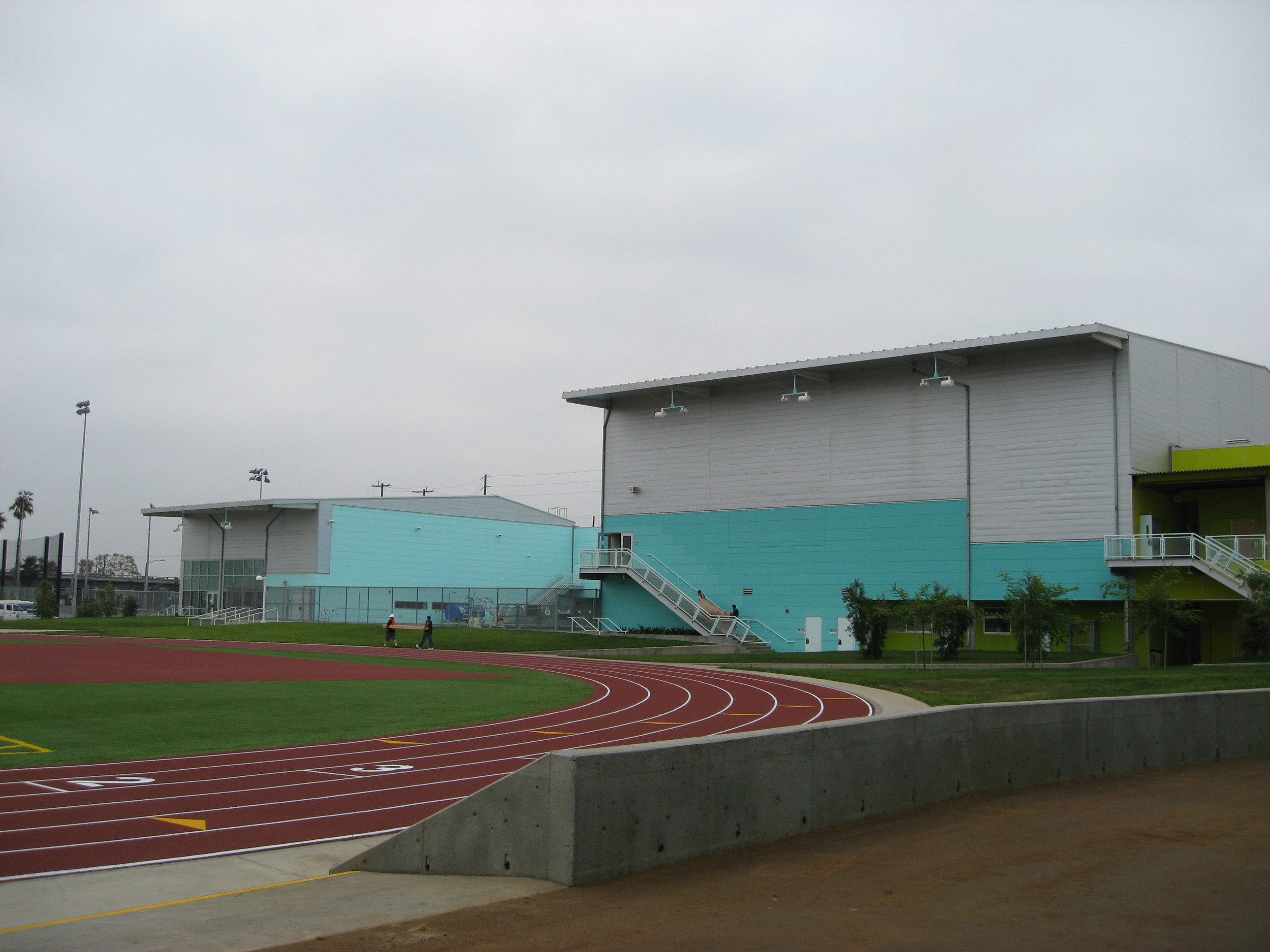 The school has a large and a small gymnasium along with an Olympic size pool.