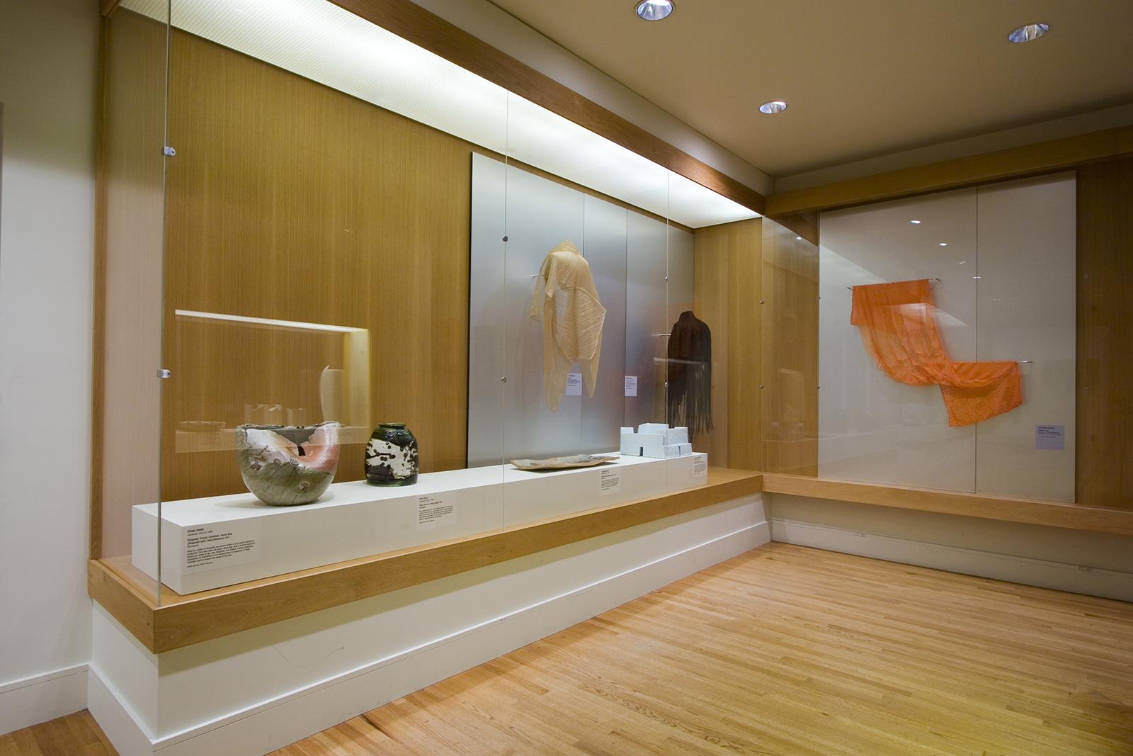 Installation of ceramics and textiles