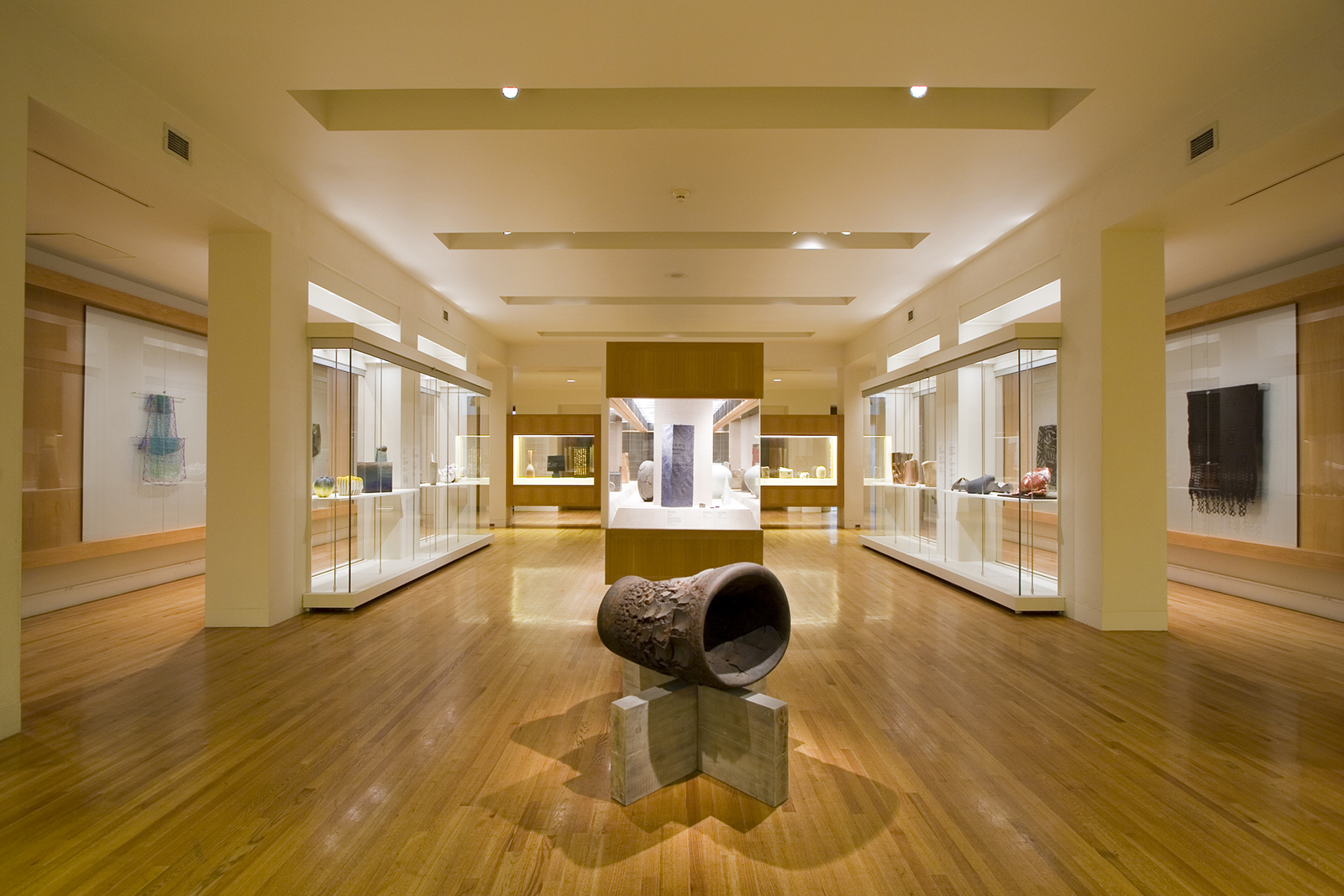 The exhibition took place in the Japanese Sword and Kimono Gallery where existing cases were adapted and new casework was added to befit the contemporary nature of the objects in the exhibition.