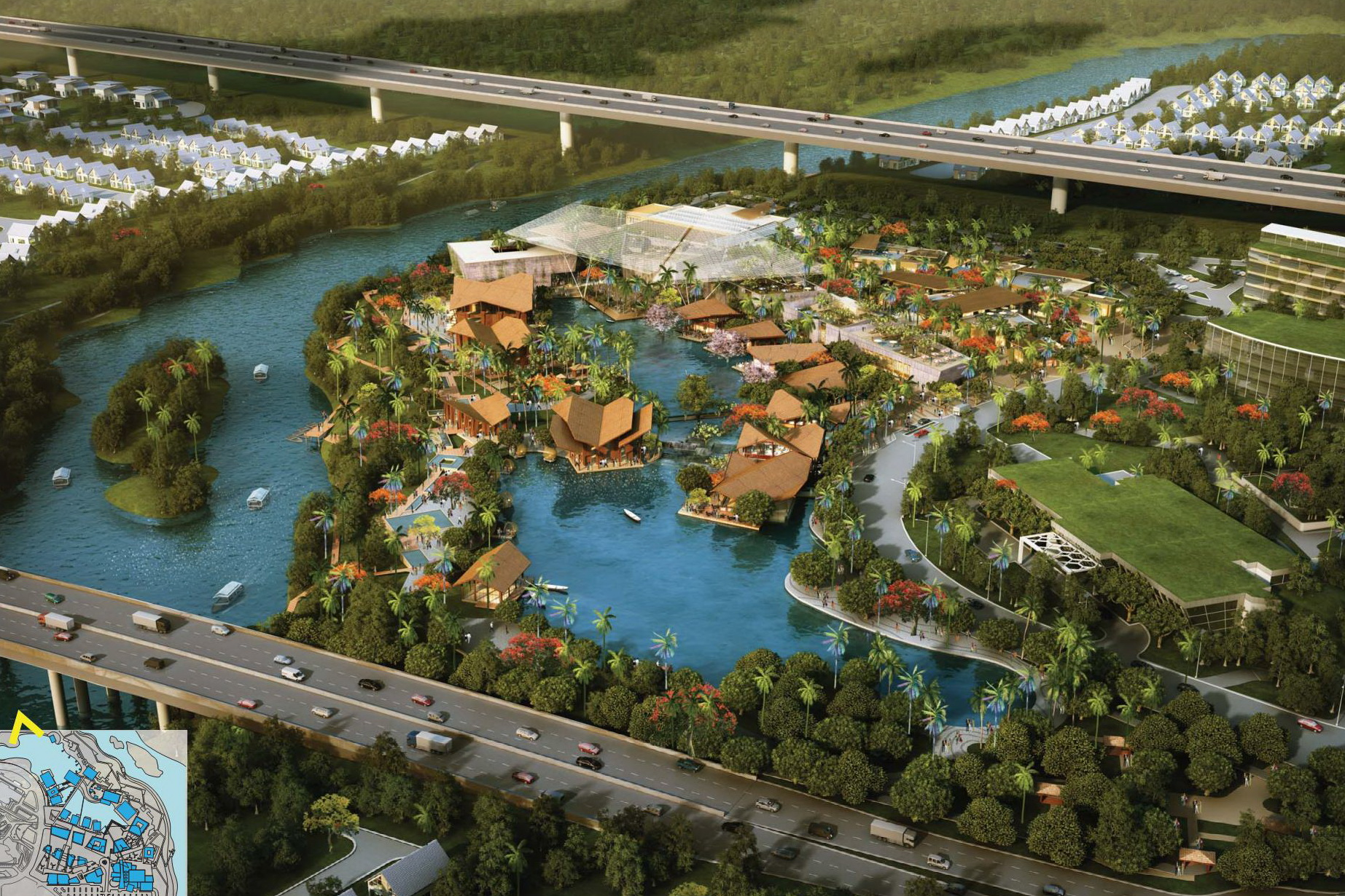 This project was a concept design for BSD City in Tangerang, Indonesia.