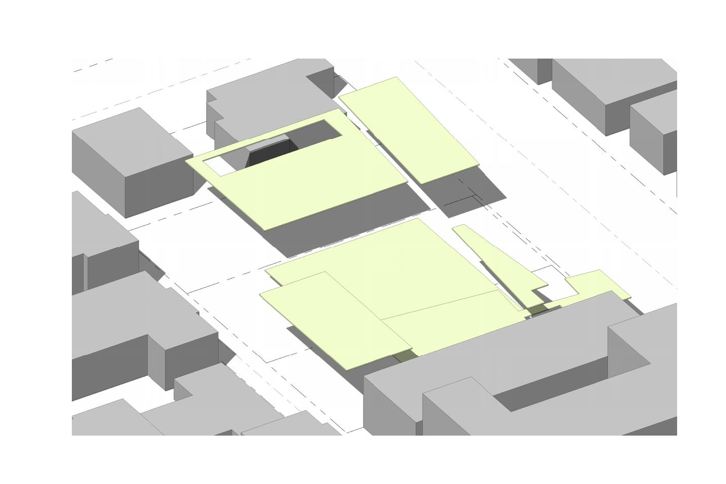 Outdoor Space Distribution  Existing outdoor space: 7100SF  Proposed outdoor space: 16650SF