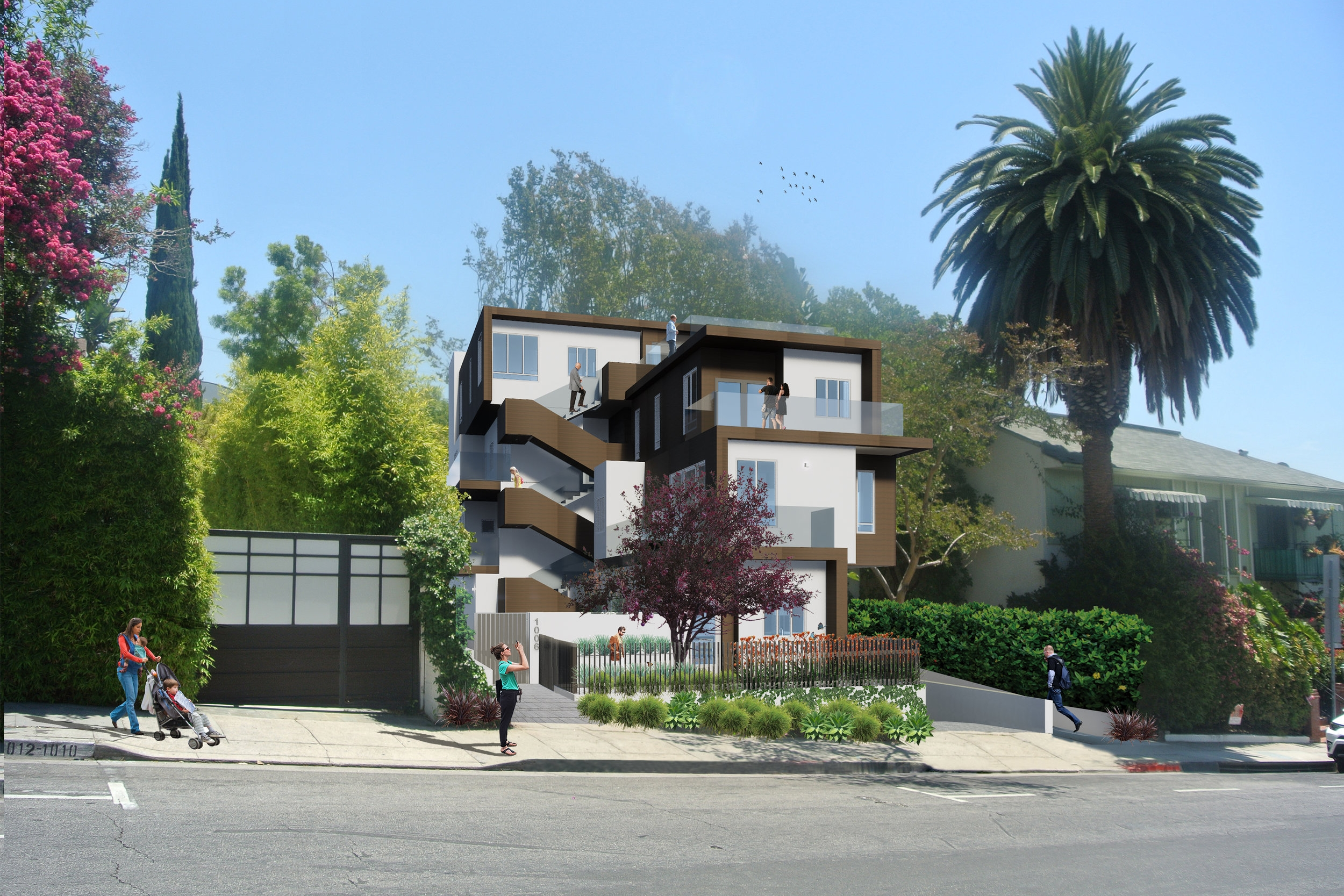 6 unit housing project in West Hollywood, Los Angeles.
