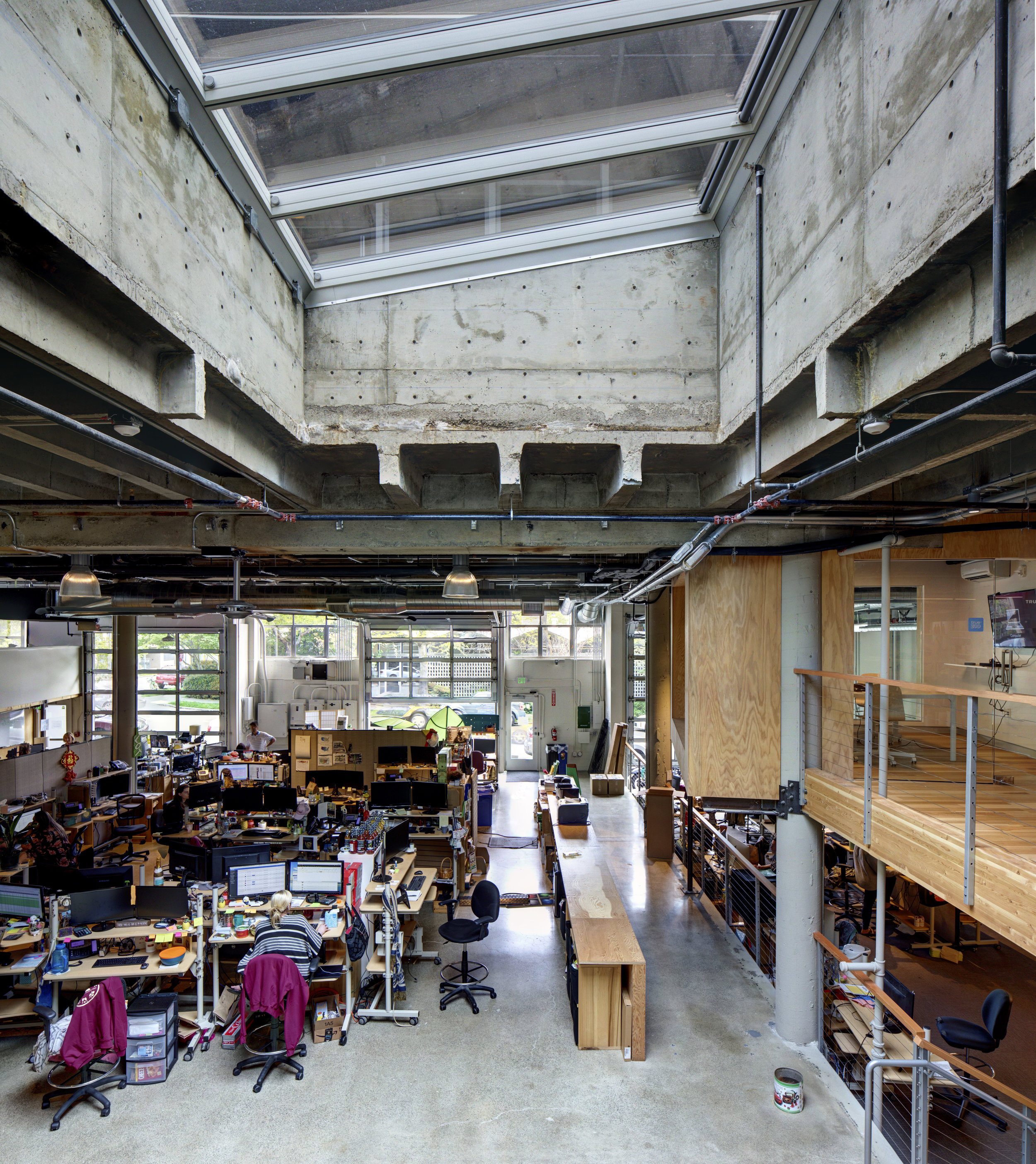 This headquarters for a beverage lifestyle accessories designer and distributor required the transformation of industrial concrete warehouse space in central Seattle in to a thriving, people-centered workplace.