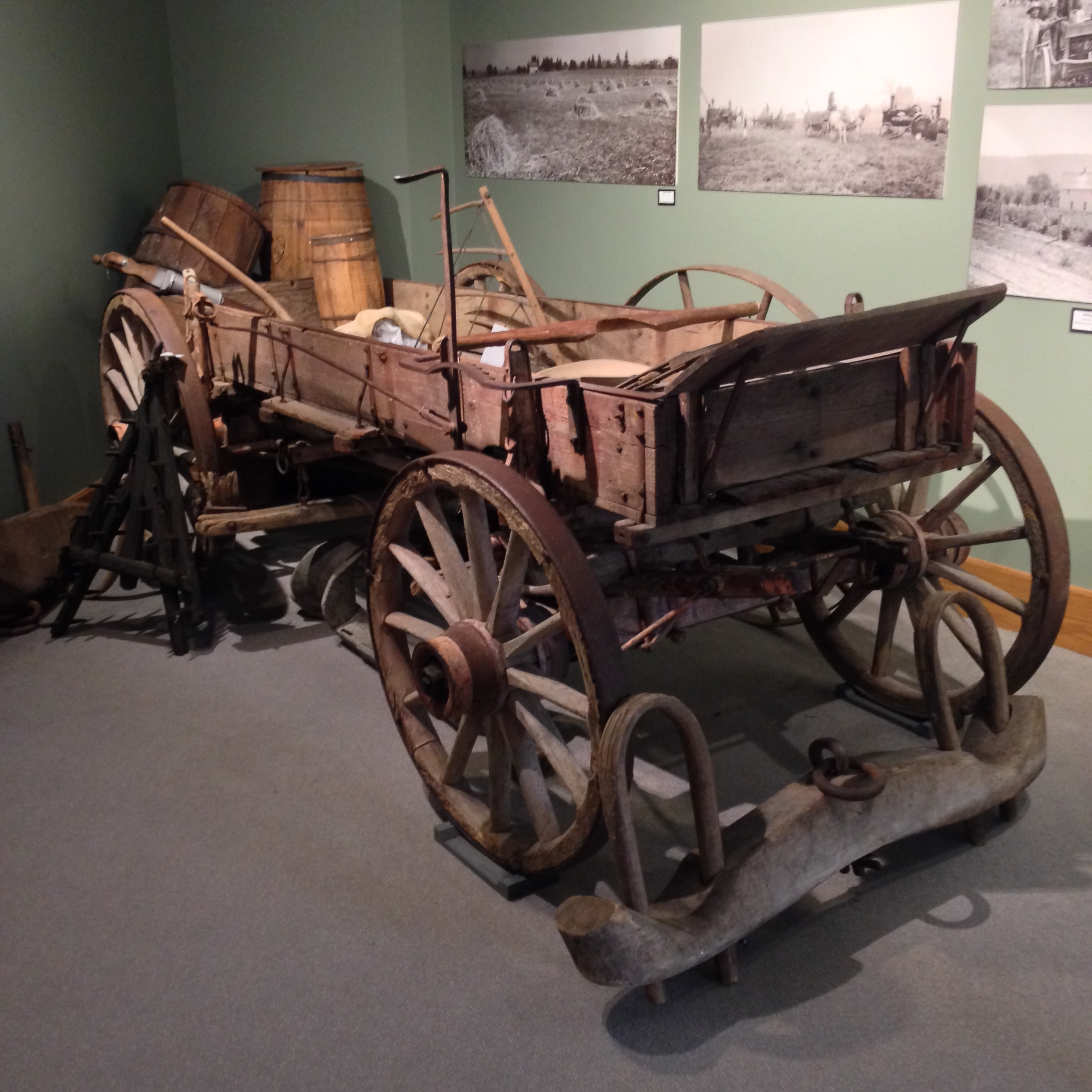 Farm wagons were used for sowing fields, transporting goods, and everyday maintenance within the territory.
