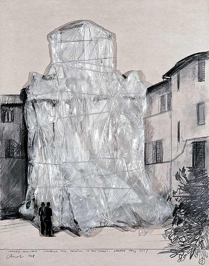 """Packed Fountain"" (Project for Festival of Two Worlds - Spoleto Italy 1968)"