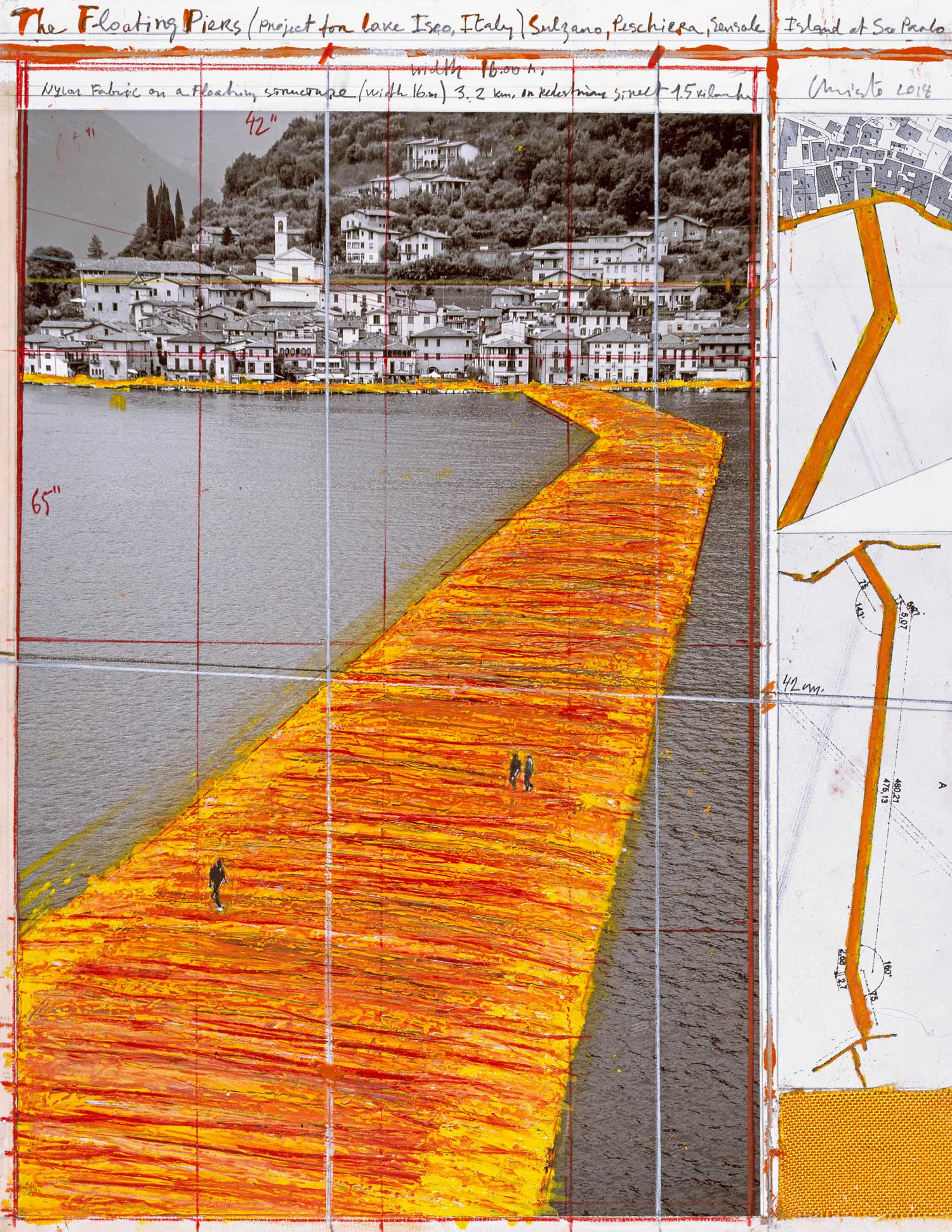 Christo The Floating Piers (Project for Lake Iseo, Italy)