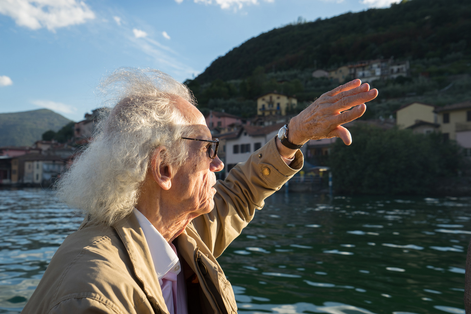 Christo on Lake Iseo, September 2015