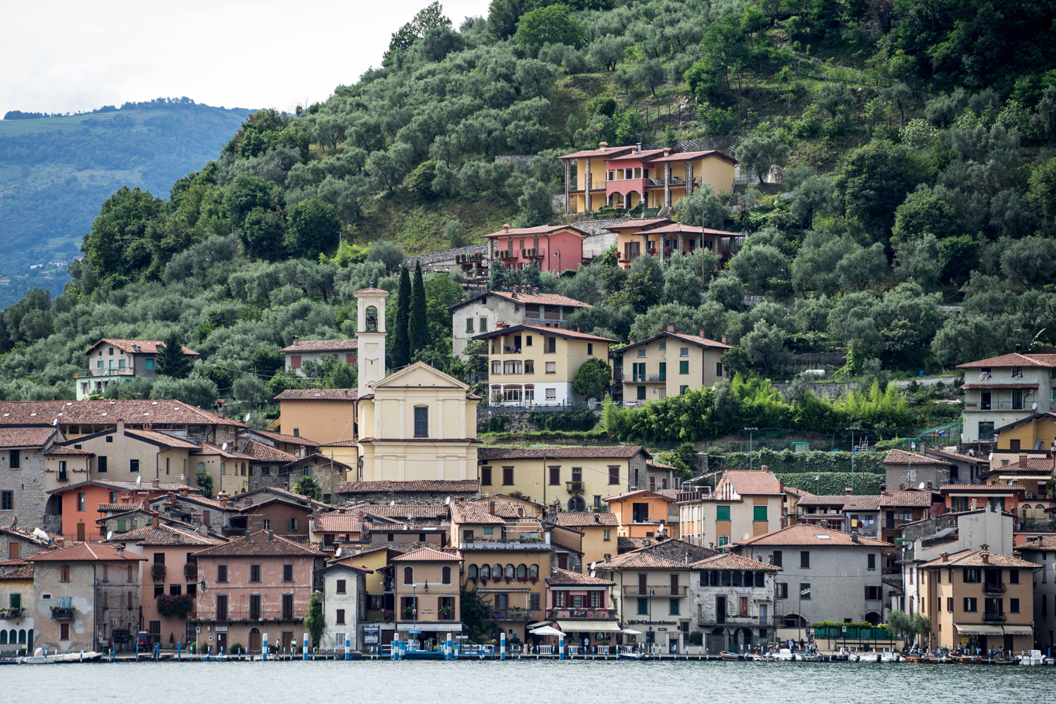 The town of Peschiera Maraglio on the island of Monte Isola