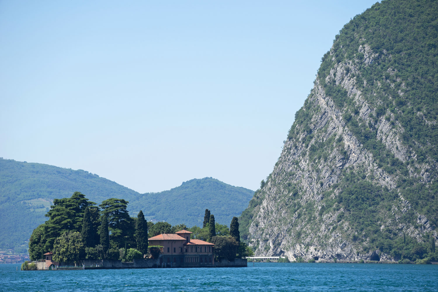 The island of San Paolo, Lake Iseo